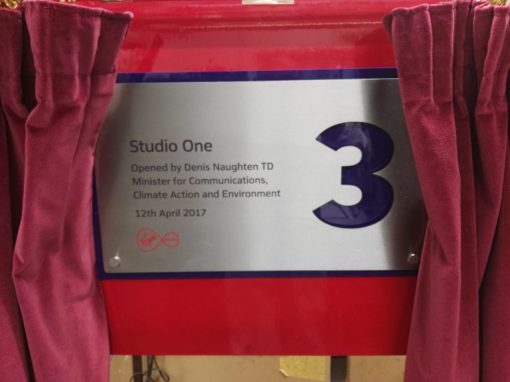 Curtain Stand and Ceremonial & official opening plaques