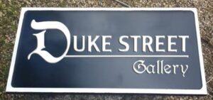 Duke St Gallery Cast Nameplate