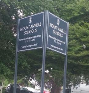 Outdoor sign Mt Anville School