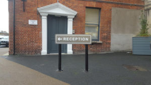 Outside directional sign
