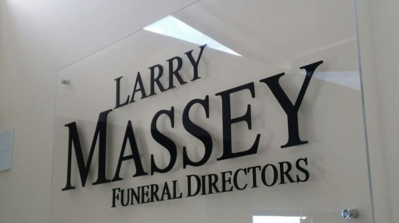 Sign with name of Funeral Directors