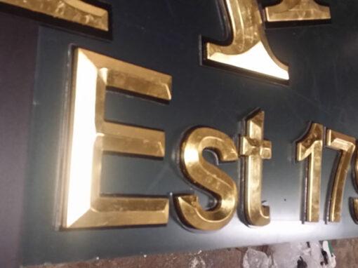 McDaids Pub Gold Leaf Lettering
