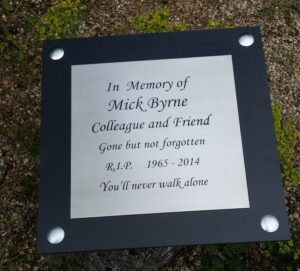 In Memory of Plaque
