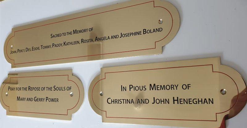 3 brass nameplates