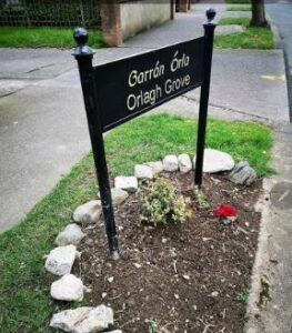 cast metal housing estate sign for orlagh grove