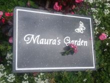 Corian sign to name a garden