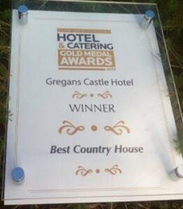 Hotel awards wall mounted acrylic wall plaque