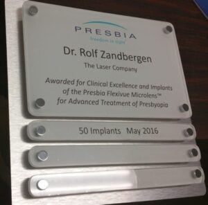 Brushed stainless steel award plaque for medical excellence