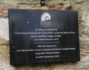 opening plaque in stone