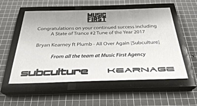 Music Industry Award Plaque