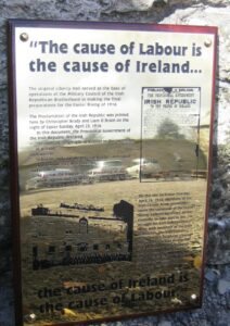 1916 Lockout Brass Wall Plaque