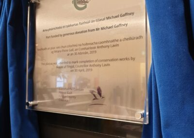 Official Opening Plaques with Curtain Stand