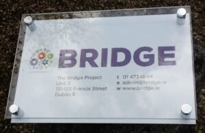 acrylic and perspex wall plaque