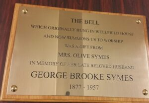 Wall mounted brass plaque