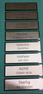 Hotel Suite Names in Brushed Stainless Steel