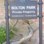Bolton Park Cast Housing Estate Sign