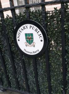 Cast Notary Public Plaque