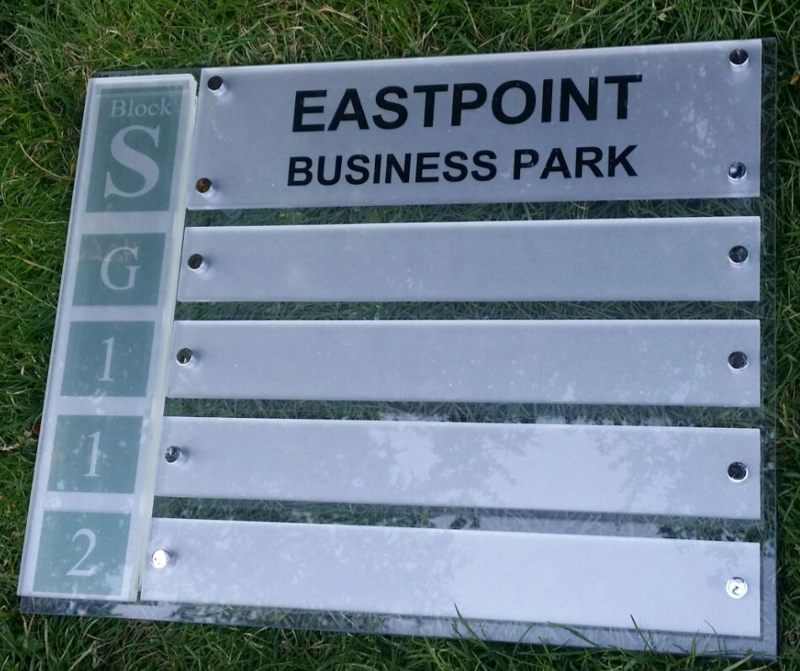 Acrylic Business Park Directory Signage