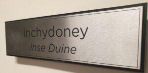 Door Sign in Brushed Aluminium