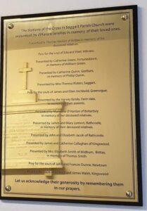 Brass Church Wall Plaque