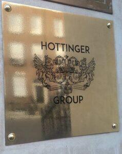 Hottinger Group brass plaque