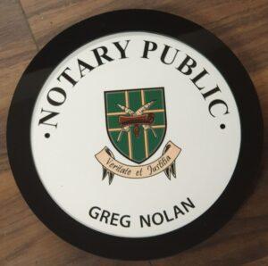 Irish Notary Public Wall Plaque