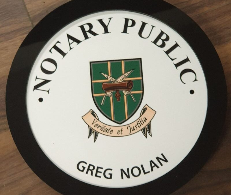 Notary Public Plaques