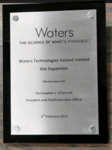 Official Opening Plaque in Stainless Steel