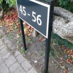 Cast Metal Housing Estate House Numbers