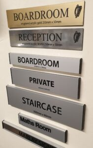 Office door signs with braille