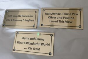 sample of brass memorial plates