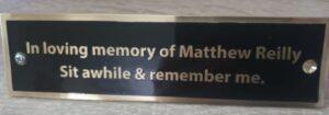 brass engraved memorial bench plate