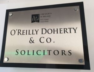 Stainless steel solicitors wall plaque