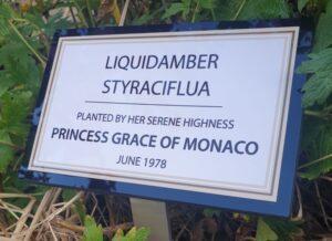 Plaque to commemorative tree planting